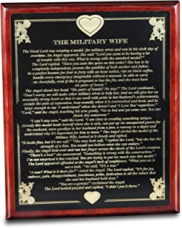 product image for All American Gifts Military Wife Poem Plaque