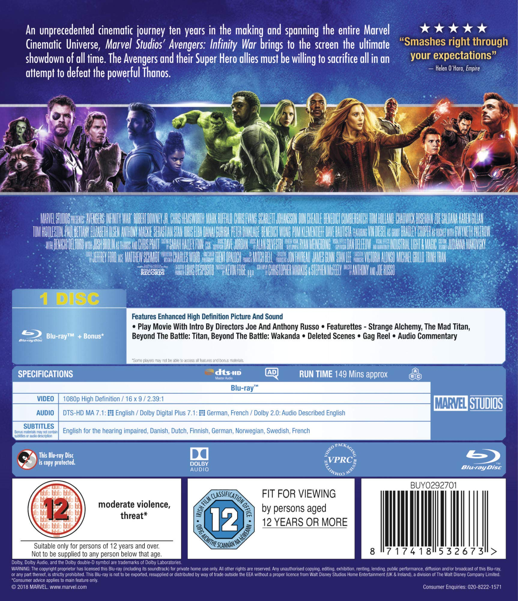 Amazon co uk: Marvel: Blu-ray & 4K