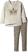 Juicy Couture Girls' French Terry Top and Pants Set