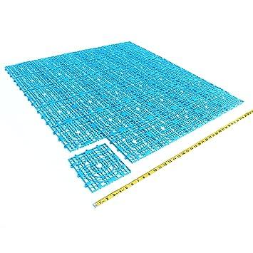 Bleu Lot De L Espace Modulaire Carré Intérieur Ou Extérieur - Carrelage piscine et tapis bleu foncé