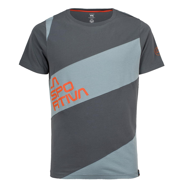 La Sportivaメンズスラブ登山t-shirt- Rock Climbingシャツfor Men Slate/Stone 青 Medium