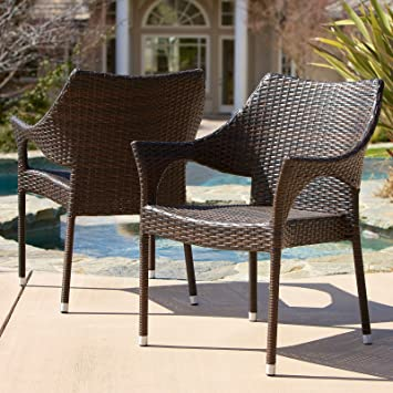Wonderful Christopher Knight Home Cliff Outdoor Wicker Chairs (Set Of 2)