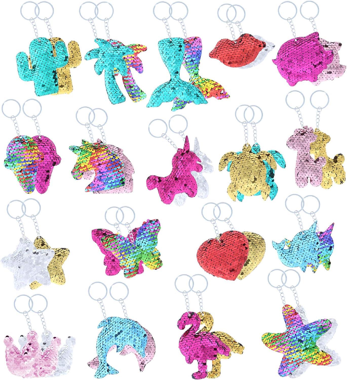 Sequin Ball Key Ring Glitter Decorative Unicorn Key Ring #l TlCrR