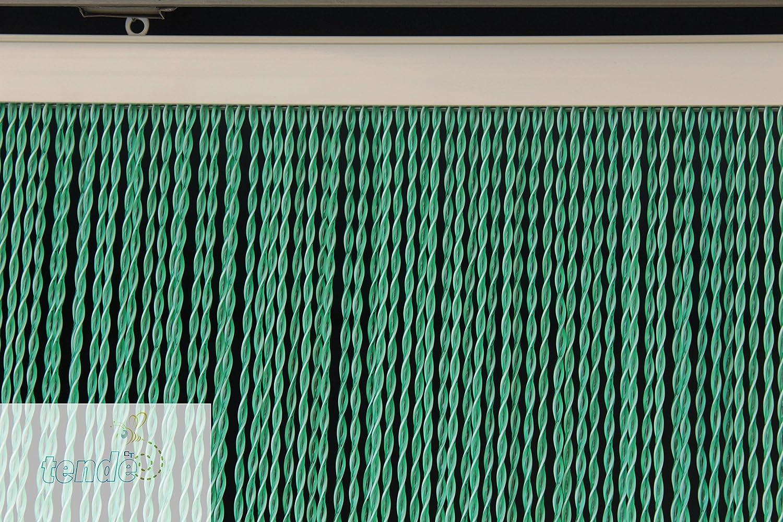 PVC-Türvorhänge Modell Capri – Aluminiumträger Aluminiumträger Aluminiumträger - Made in  - Eichmaß (95X200 100X220 120X230 130X240 150X250) – Fliegenvorhang (95X200, Avorio e Marrone 3) f993b1