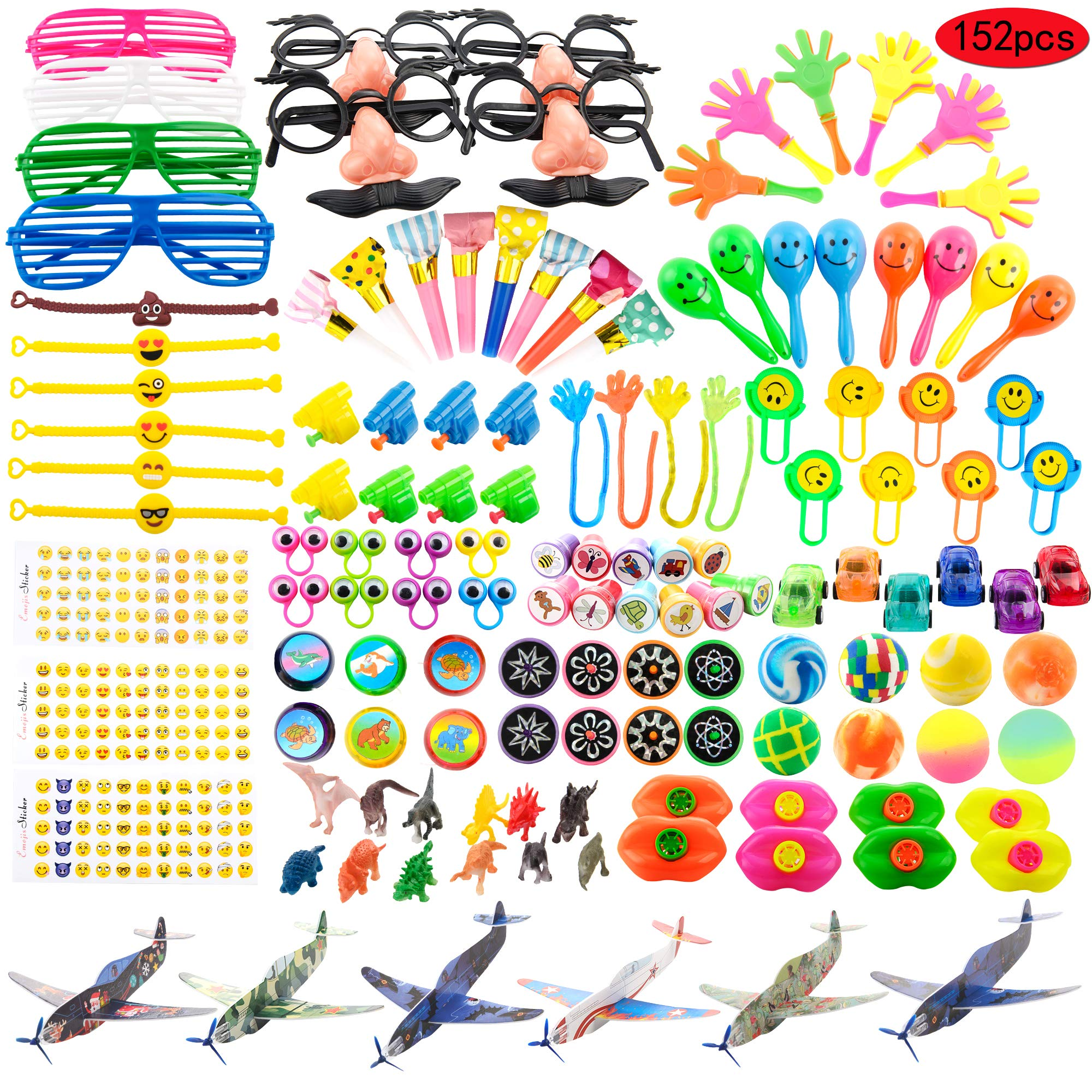 Kissdream 152PCS Carnival Prizes for Kids Birthday Party Favors Prizes Box Toy Assortment for Classroom by Kissdream