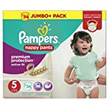 Pampers Premium Active Fit Nappy Pants, Size 5