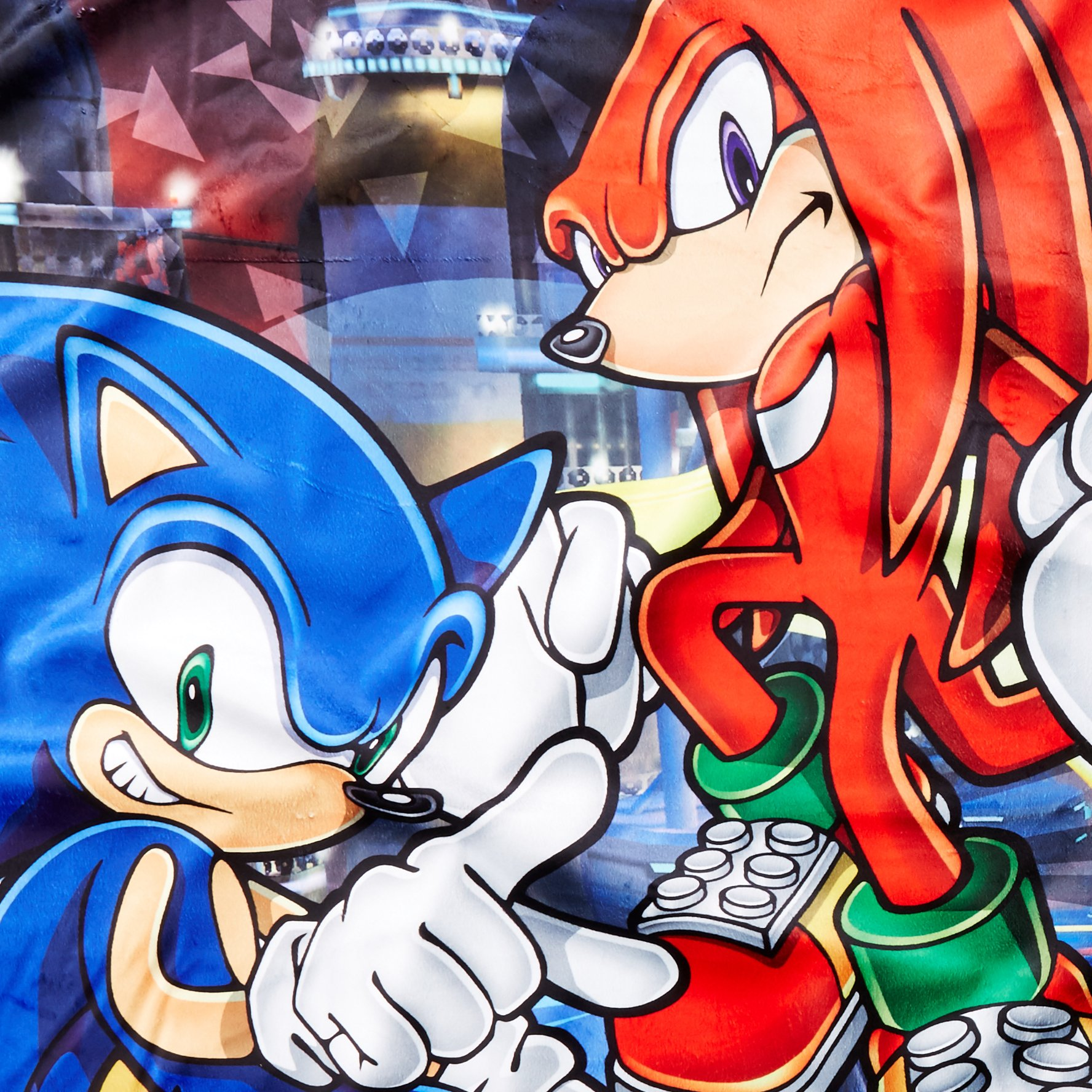 Great Eastern GE-57718 Sonic The Hedgehog Sonic and Knuckles Throw Blanket 46''x60''