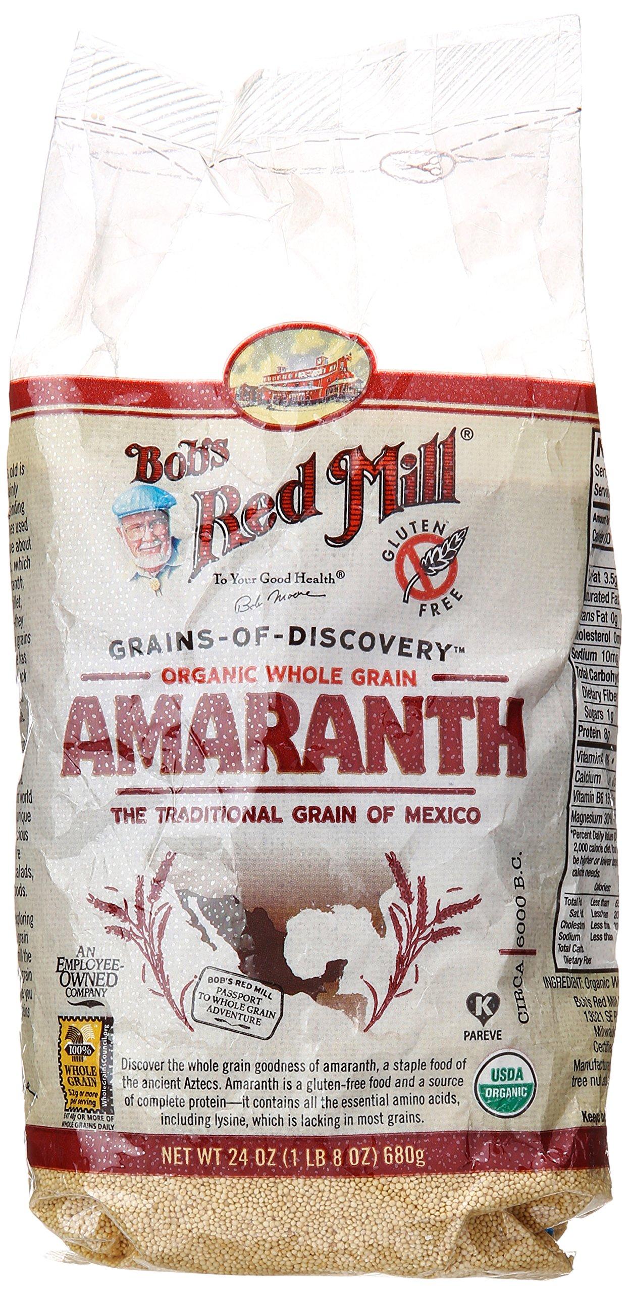 Bob's Red Mill Organic Amaranth Grain, 24 oz