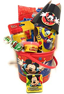 unique mickey mouse easter gift basket for children includes easter treats and surprise gifts