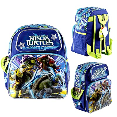 "high-quality Ninja Turtles 16"" Large School Backpack Boys Canvas BookBag Licensed USA Seller"