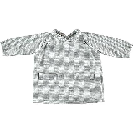 Vestido algodón bebé cuadros con bolsillos, color verde agua. Precio outlet