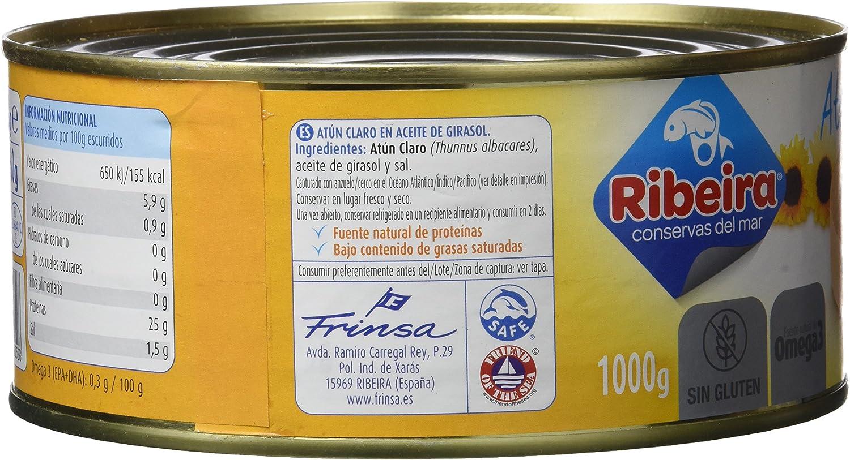 Ribeira Conserva de Pescado Atún Claro Girasol - 1000 gr