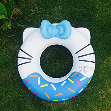 Leadallway Free Swimming Baby Inflatable Swimming Ring Lovely Swim Rings for Kids Swimming Pool Toys Inflatable Float Swimming Ring,Summer Fun Blue