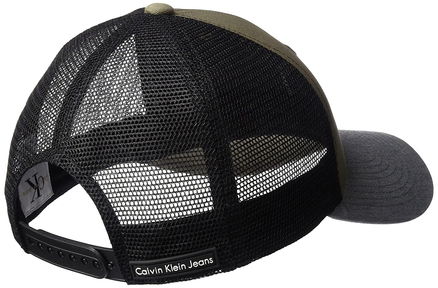 Calvin Klein Jeans Mens Snapback Trucker Hat, Army ONE Size at Amazon Mens Clothing store: