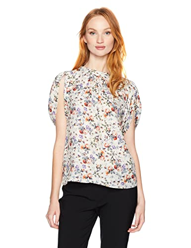 Rebecca Taylor Women's Shortsleeve Ruby Floral Top
