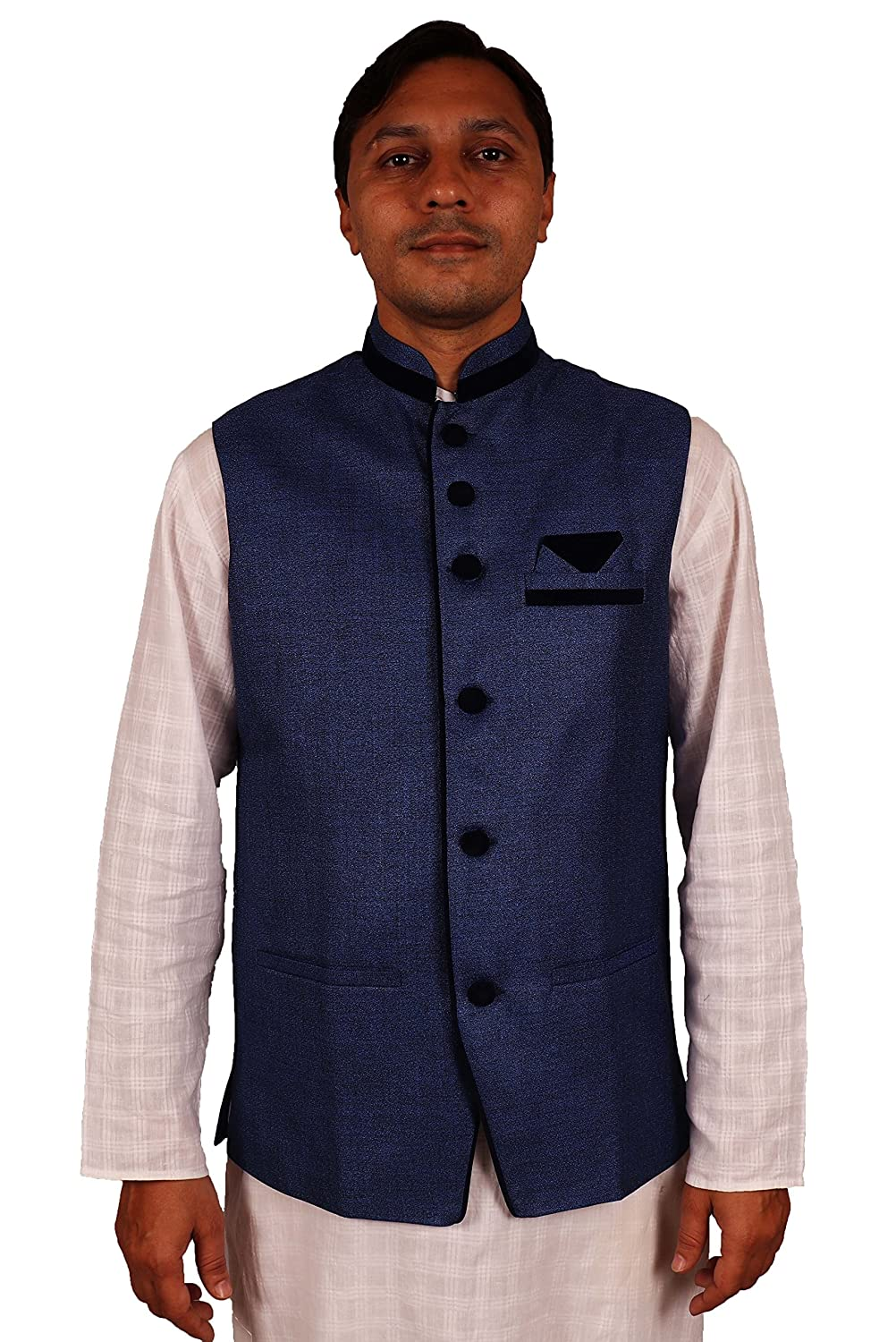 Belle Mens Waist Coat(Poly Viscose_Trident)