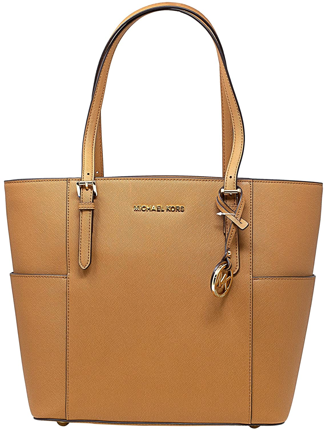f2724acd954d Amazon.com: Michael Kors Jet Set Large Tote (Acorn): Michael Kors: Shoes