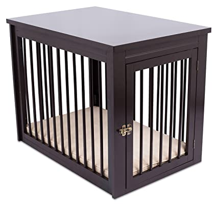 internets best decorative dog kennel with pet bed wooden dog house large indoor pet - Dog Crate Side Tables