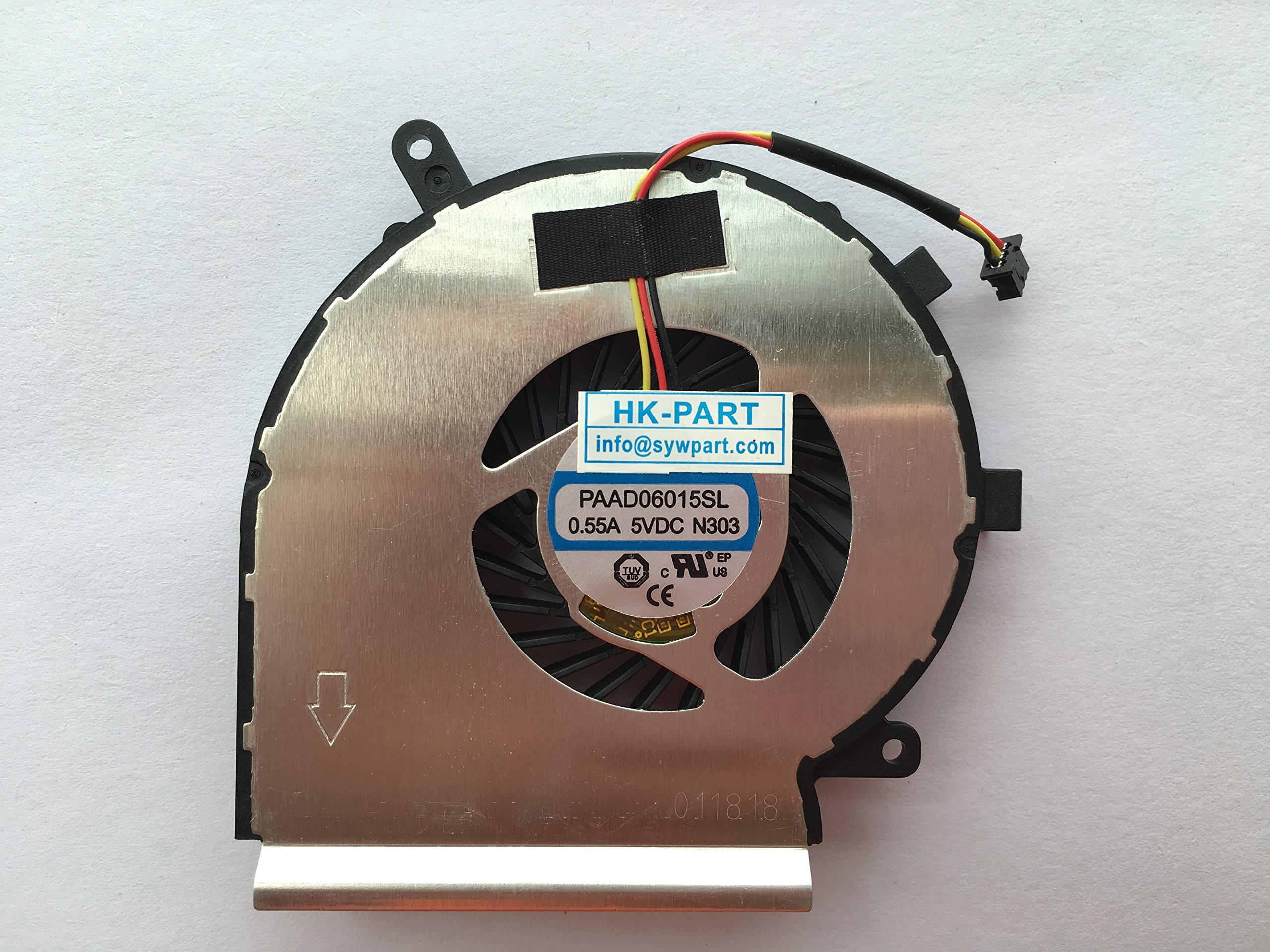 HK-Part Laptop Cpu Cooling Fan 3-Pin 3-Wire For AAVID THERMALLOY PAAD06015SL 0.55A 5VDC N303