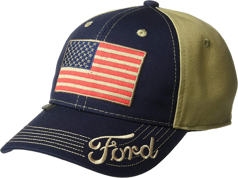 Outdoor Cap Gorra de camión, Unisex, para Adultos, Bandera Americana, Azul Marino/Caqui, Adulto: Amazon.es: Deportes y aire libre