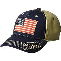 Gorra con bandera americana, unisex, color azul marino