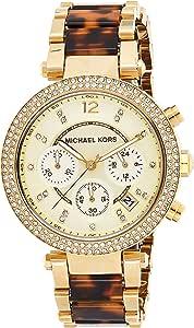 Michael Kors Womens Quartz Watch, Analog Display and Stainless Steel Strap MK5688