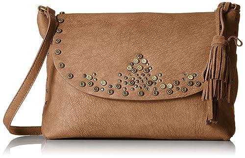 6166586aeb0 STEVEN by Steve Madden Zora Cross Body Handbag, Tan: Amazon.co.uk ...