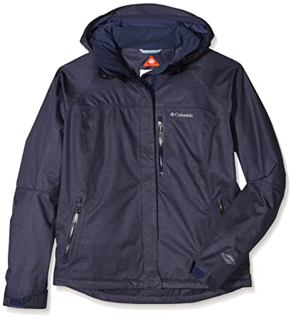 Columbia MIA Monte II Mujeres Chaqueta Impermeable, Mujer, Color Azul - Nocturnal, tamaño
