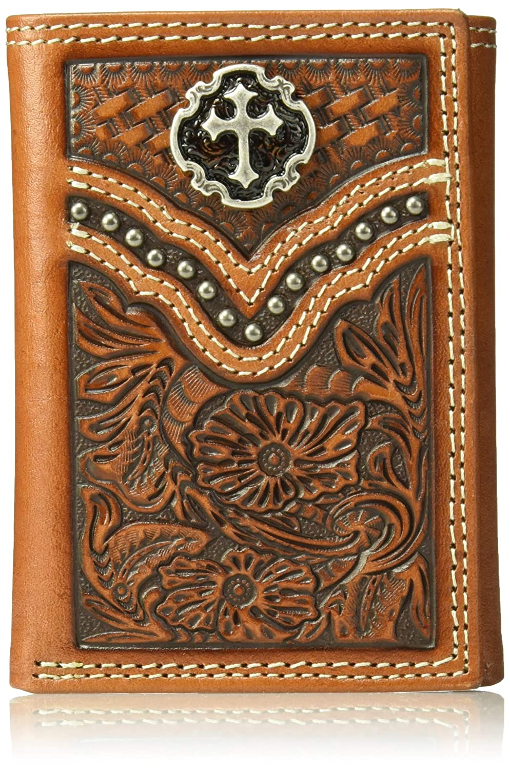 Ariat Unisex Tri-Fold Floral Embossing Wallet