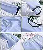 Zegoo Kids Boys Solid Blue Pajamas Cotton PJ's Set