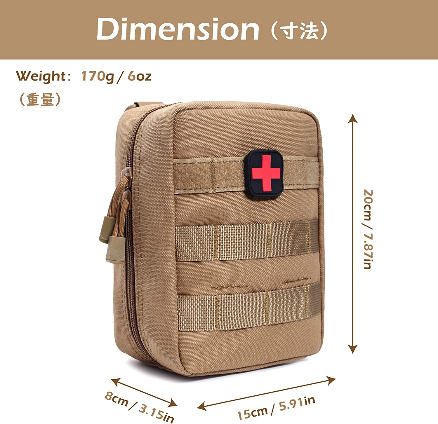 Green TRIWONDER Tactical Molle Pouch Waist Bag Small EDC Utility Pouch Rip-Away EMT First Aid Pouch Medical Pouch for Outdoors