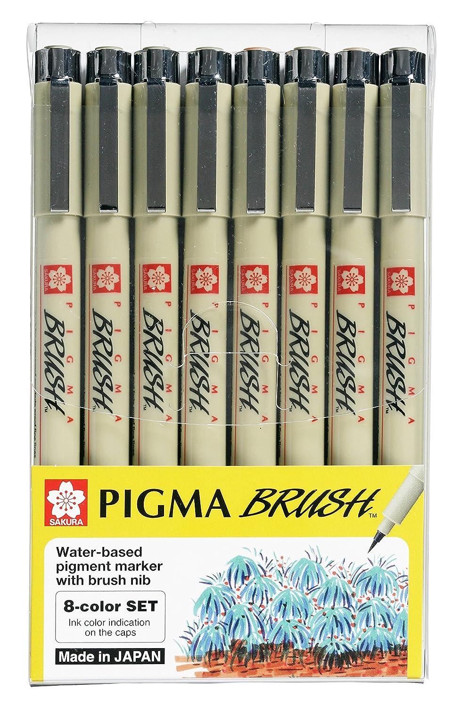 Sakura Pigma Micron Set di penne da disegno artistico, con inchiostro nero di qualità d'archivio PN - 8 pen Asst colour con inchiostro nero di qualità d'archivio PN - 8 pen Asst colour