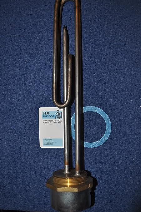 Tesla Incoloy - Resistencia blindada y termostato para calentador de agua (35 cm, 3