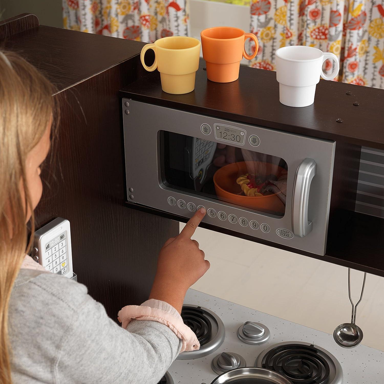 kidkraft uptown espresso kitchen toys games