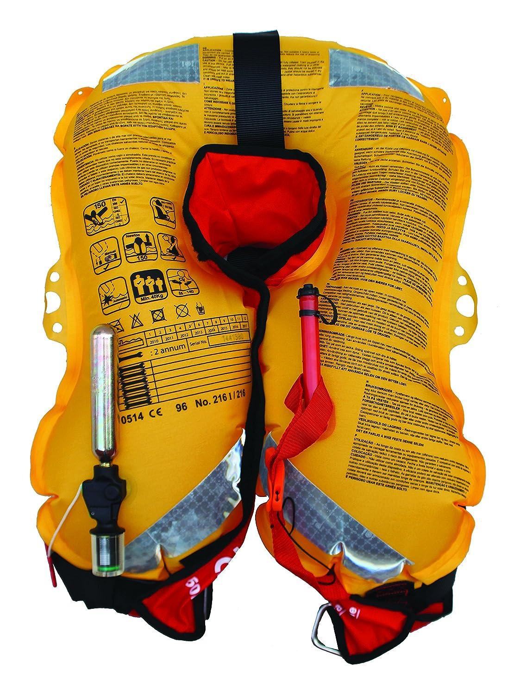 Taglia Unica Giubbotto Salvagente Manuale Senza Cintura di Sicurezza Unisex-Adulto Verde Orangemarine 800022