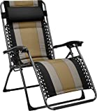 AmazonBasics Padded Zero Gravity Patio Chair - Black
