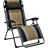 Amazon Basics Padded Zero Gravity Patio Chair - Black
