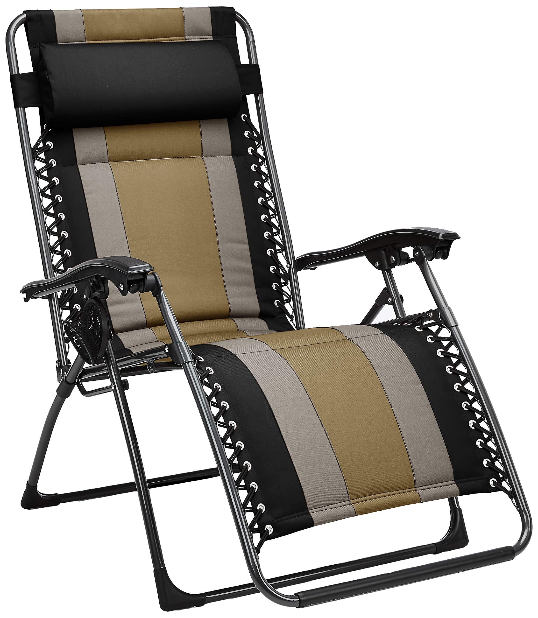 AmazonBasics Padded Zero Gravity Chair- Black by AmazonBasics