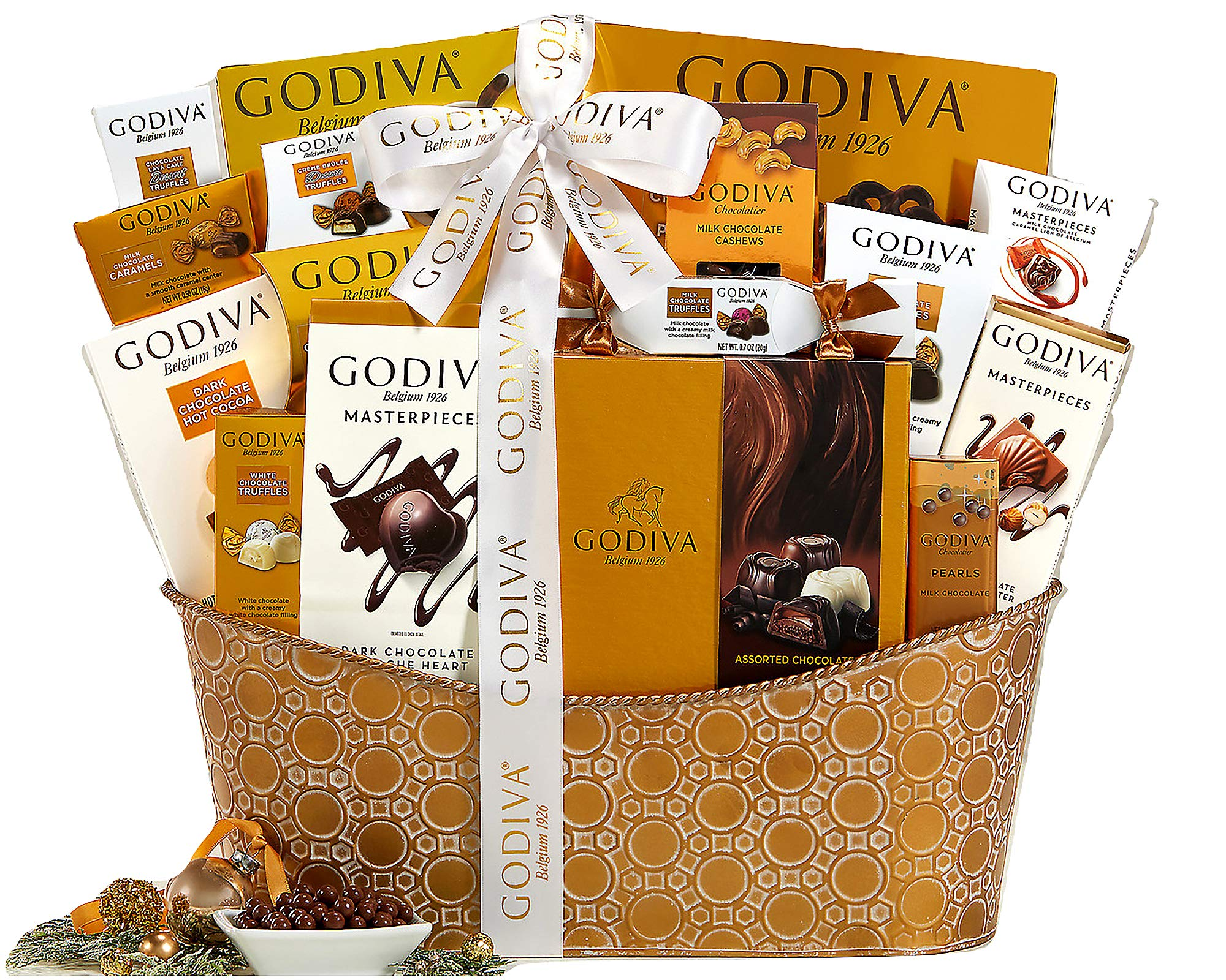 Godiva Pure Decadence Classic Ribbon Signature Chocolate Gift Basket by Wine Country Gift Baskets