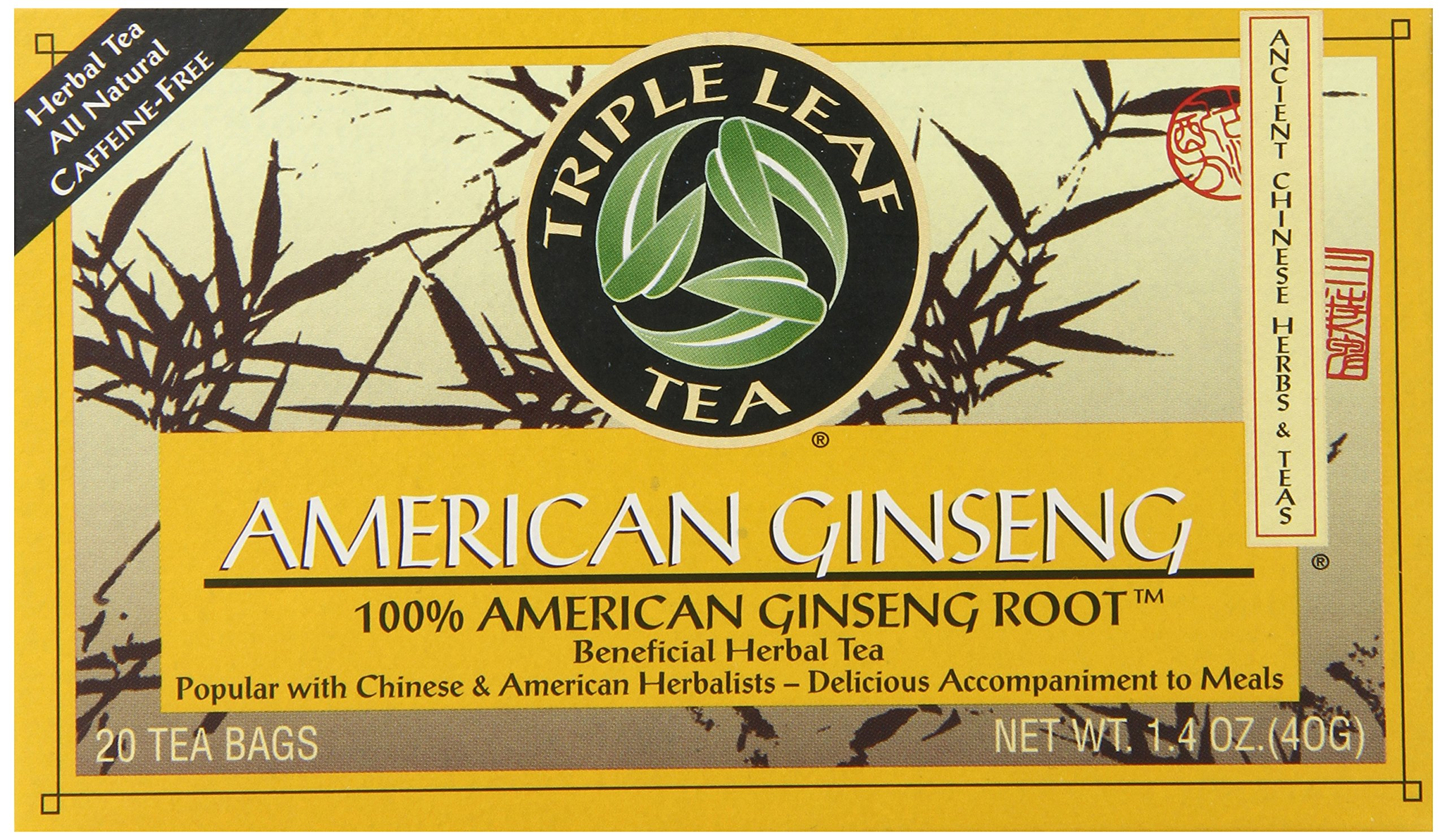 Triple Leaf Brand Tea, American Ginseng, 20-Count
