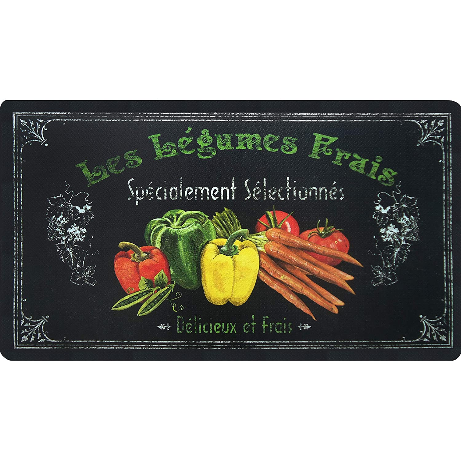 Oversized 20x36 Feel at Ease Anti-Fatigue Kitchen Mat Bless This Kitchen