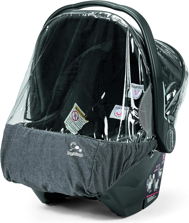 Peg-Pérego Rain Cover - Plástico de lluvia para silla de coche, grupo 0, color transparente