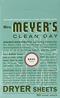 product image for Mrs. Meyer's Clean Day Dryer Sheets, 80 Count (Basil, Pack of 3)