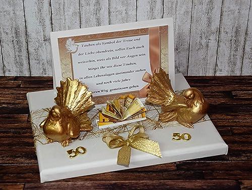 Geld Geschenk Zur Goldenen Hochzeit Mit Taubenpaar Amazon