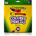 Crayola 50ct Long Colored Pencils For Kids