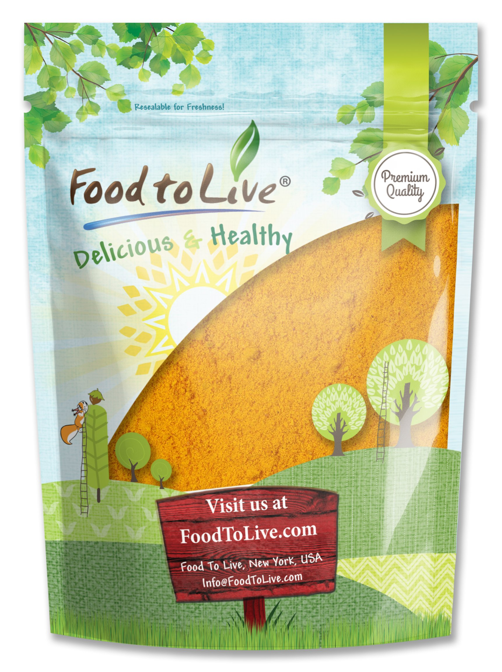 Food to Live Turmeric Powder (Curcumin, Ground Turmeric Root, Kosher) (2 Pounds)