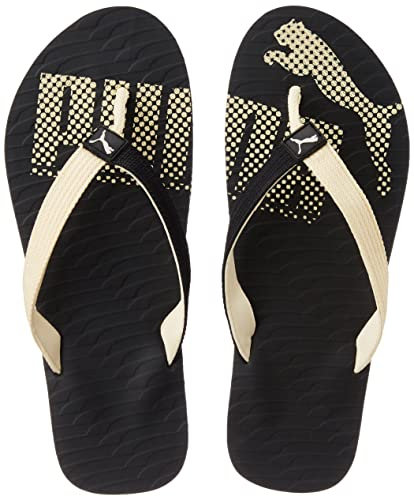 c941aa81bd7823 Puma Unisex MiamiFashionDP Black and Creampuff Hawaii Thong Sandals - 12 UK   Buy Online at Low Prices in India - Amazon.in