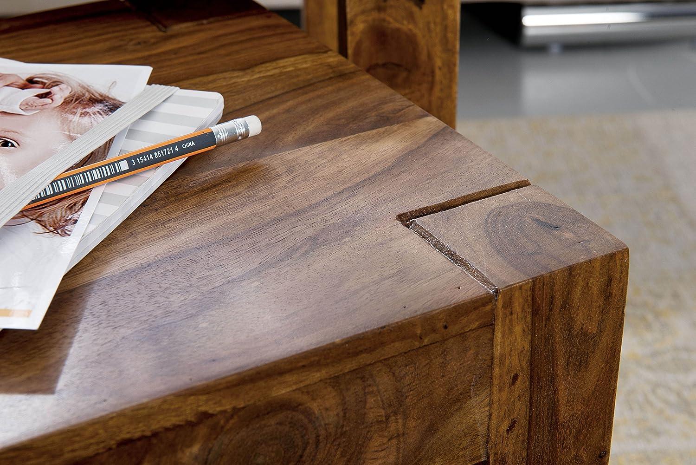 Wohnling WL1 45 x 35 x 50 cm Set da 3 Tavolini Marrone