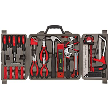 Apollo Tools DT0204 71 Piece Household Tool Kit with Most Reached for Hand Tools in Storage Case