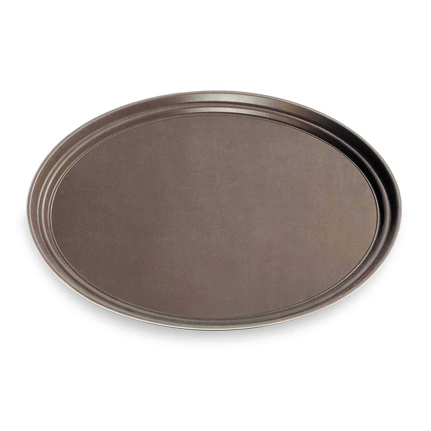 New Star NSF Approved Plastic Non-Skid Tray Oval 25545 22-Inch by 27-Inch Brown New Star Foodservice Inc